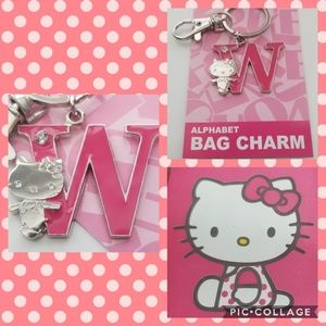 NWT Hello Kitty Bag Charm letter W